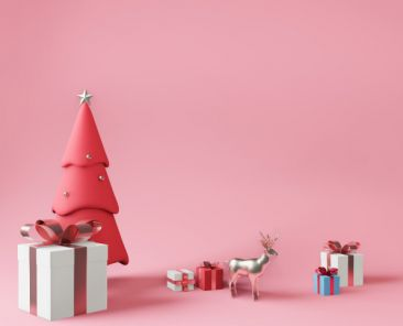 3d-rendering-little-gift-boxes-metallic-pink-christmas-tree_50883-190