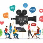 team-video-production-film-making-with-people-discussion-together-with-modern-flat-style-vector_25147-316