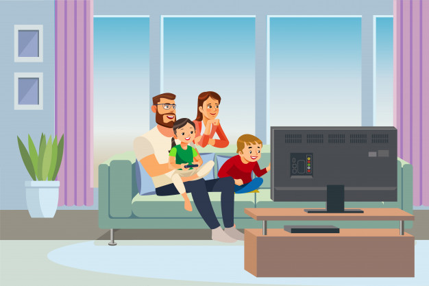 parents-spending-time-with-kids-home-vector_81522-537