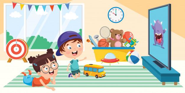 children-watching-television-room_29937-3138